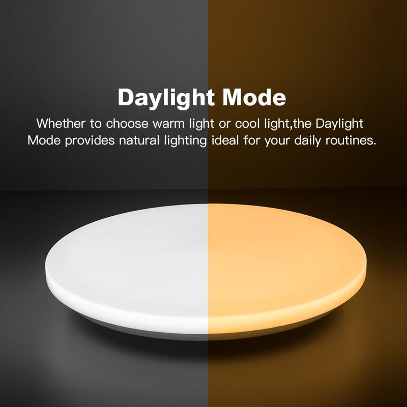 Современный светодиодный умный потолочный светильник с управлением через приложение RGB затемнение 36W48W Bluetooth динамик AC85V 265V, светодиодный потолочный светильник s - 5