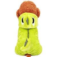 Dog clothes Teddy small dog costume cat pet autumn four feet warm dinosaur dress