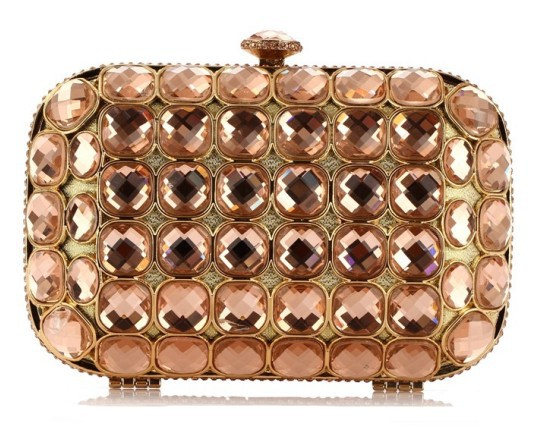 Luxury Diamond Evening Bags gliter Classic Rhinestone gold Clutch For women wedding bag Crystal party purse 3 colors