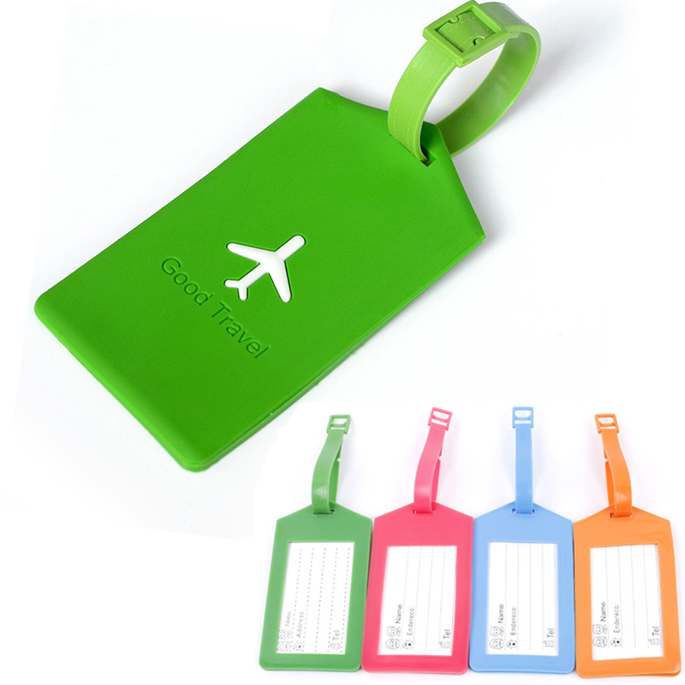 Silicone Airway shaped Suitcase Luggage Tags design ID Tag Address Holder Identifier Label travel Accessories 1PC coneed charming nice new suitcase luggage tags id address holder silicone identifier label luggage tags travel access y20x