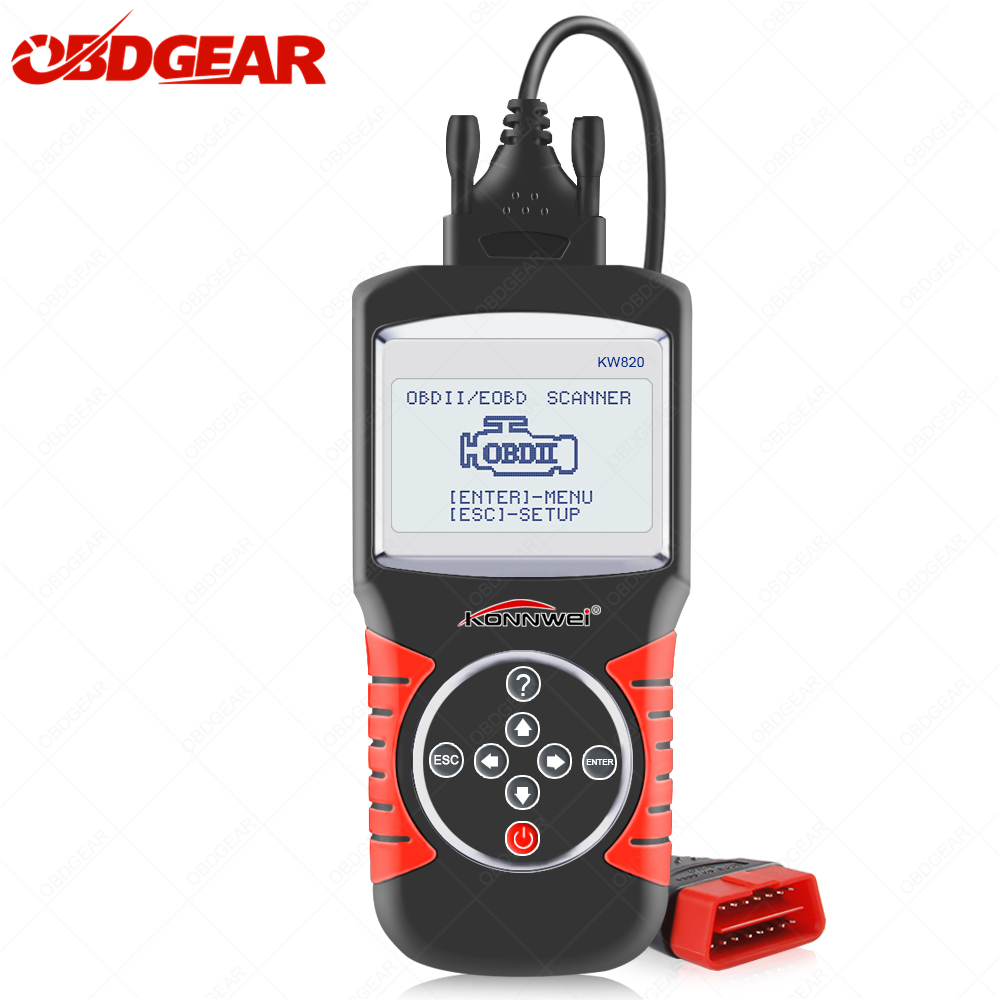 Universal Konnwei KW820 OBD2 Autos scanner Free Update Car Diagnostic Scanner Full OBD2 Funtion ODB 2 Diagnostic Tool In Spanish|Code Readers & Scan Tools| |  - title=