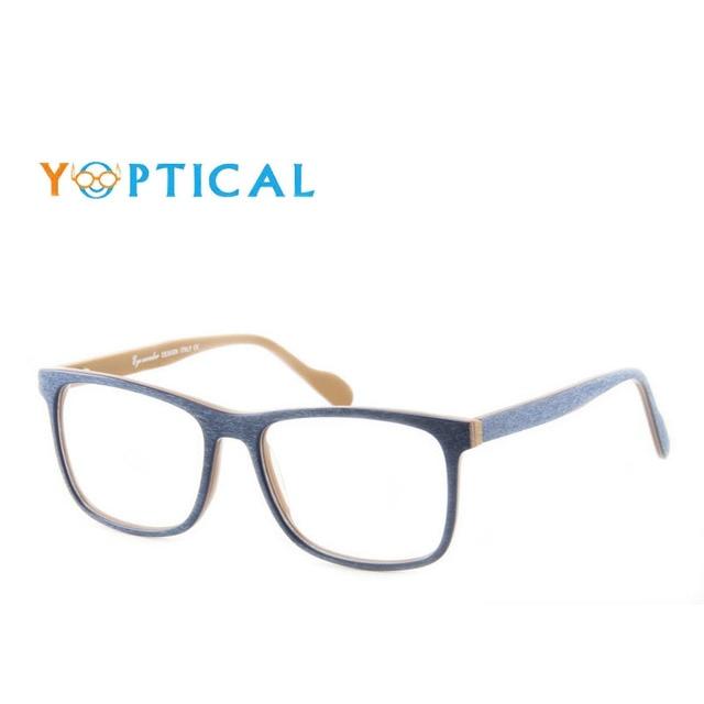 Maravilha dos olhos Dos Homens Armações De Óculos Quadrados Grandes Designer  Frame Ótico Acetato Espetáculo oculos 774d5188f5