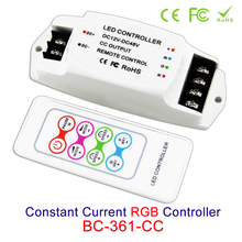 цена Constant Current mini LED RGB Controller DC12V 24V 36V 48V 3 channels Output 350MA 700MA for led strip light control box &remote онлайн в 2017 году