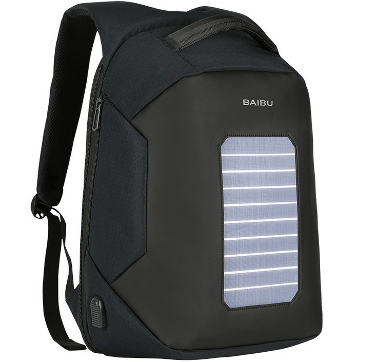 Luxury Travel Men Backpacks Solar Charge External USB 16Inch Laptop Backpack Anti-Theft  ...