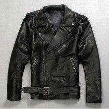 Высокое качество модные мужские панк поясом из натуральной кожи жилет Slim Fit Moto для верховой езды байкерская куртка на молнии пальто итальян...(China (Mainland))