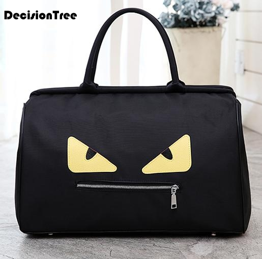 Large Capacity Portable Shoulder Bags New Luggage Bags Travel Bags Chassis Personality Monster Patterns Shoulder Bags