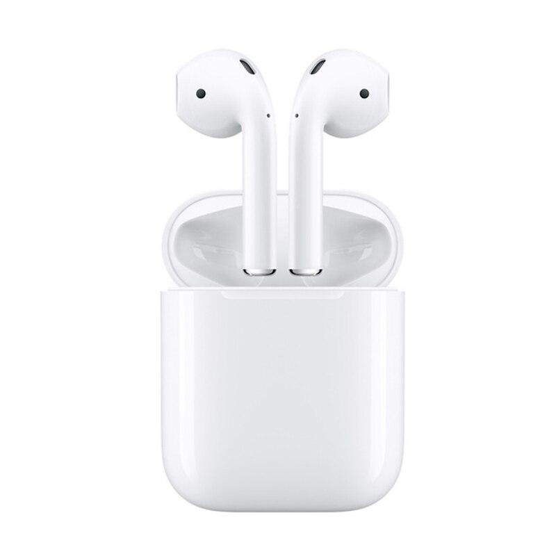 Original Apple Airpods sans fil dans l'oreille Bluetooth écouteur plus profond basses tons connecter Siri batterie puissante avec étui de charge