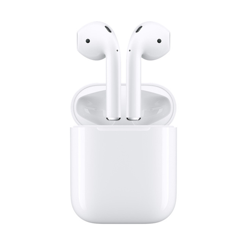 Original Apple Airpods Wireless In-ear Bluetooth Earphone Deeper Bass Tones Connect Siri Powerful Battery with Charging Case
