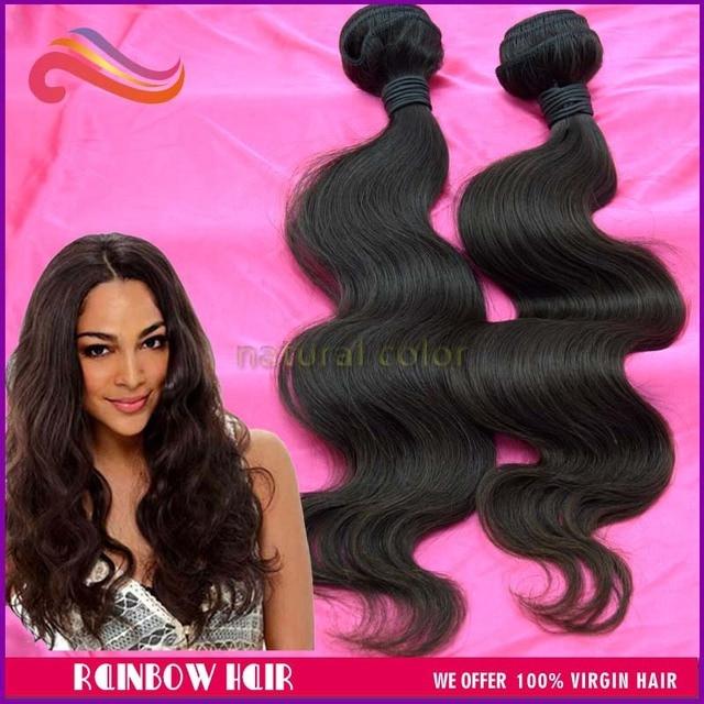 """2pcs/lot, High quality virgin Brazilian hair human hair extension 12'' to 30"""", DHL  free shipping"""