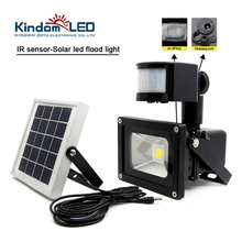 10W Waterproof Solar LED Flood Light IR Motion Sensor Induction Sense Solar Lamp IP65 COB Garden Solar Powered LED Floodlight bsv bsv sl028 solar powered rechargeable 1 1w 28 led floodlight 5 5v