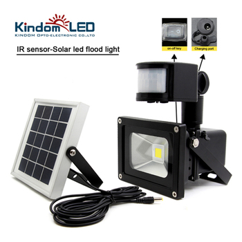 цена на 10W Waterproof Solar LED Flood Light IR Motion Sensor Induction Sense Solar Lamp IP65 COB Garden Solar Powered LED Floodlight