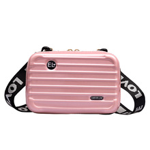 Women Mini Suitcase Shape Crossbody Bag Shoulder Ba
