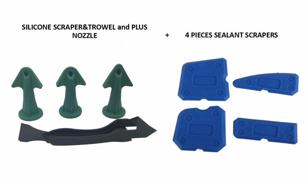 Silicone Trowel Sealant Scraper And Caulking Nozzle Silicone Scraper Caulking Tool Kit Sealant Wiper