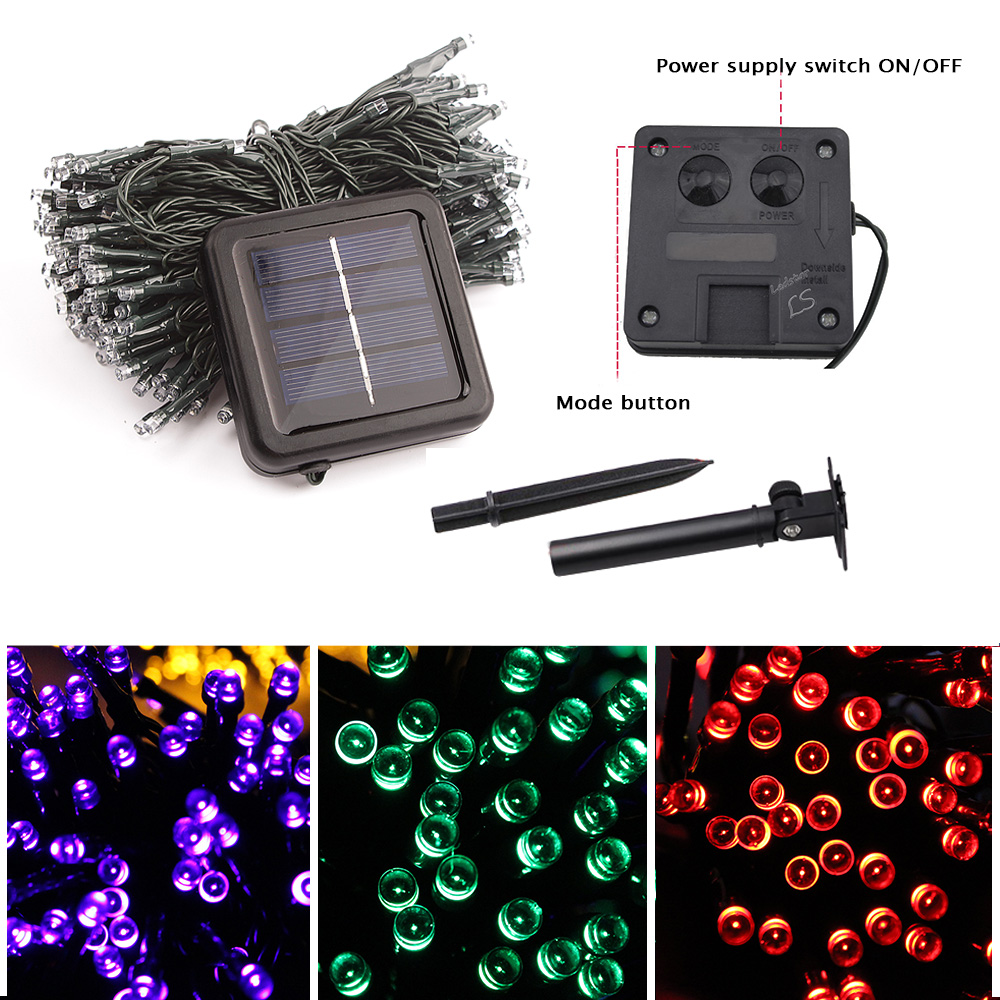 200 LED Solar Lamp For Garden Waterproof Outdoor Lighting Solar Powered String Fairy Lights 22M Holiday Xmas Solar Garland Light