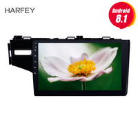 Harfey Android 8.1 9for Honda FIT 2014 Left Radio DVD Player GPS Navigation System with Bluetooth 3G WIFI multimedia player