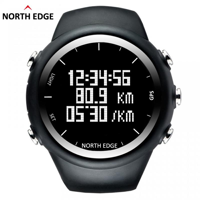 Prix pour North Edge GPS Montre Numérique Heure Hommes Montre-Bracelet Smart Rythme Vitesse Calories Course à Pied Randonnée Imperméable À L'eau Montre de Sport X-Trek.