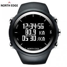 North Edge GPS Montre Numérique Heure Hommes Montre-Bracelet Smart Rythme Vitesse Calories Course à Pied Randonnée Imperméable À L'eau Montre de Sport X-Trek.