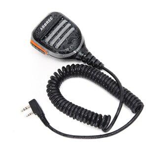Image 3 - ABBREE yağmur geçirmez PTT omuz hoparlör mikrofon Baofeng dijital telsiz DM 860 DM 1701 DM X DMR iki yönlü telsiz