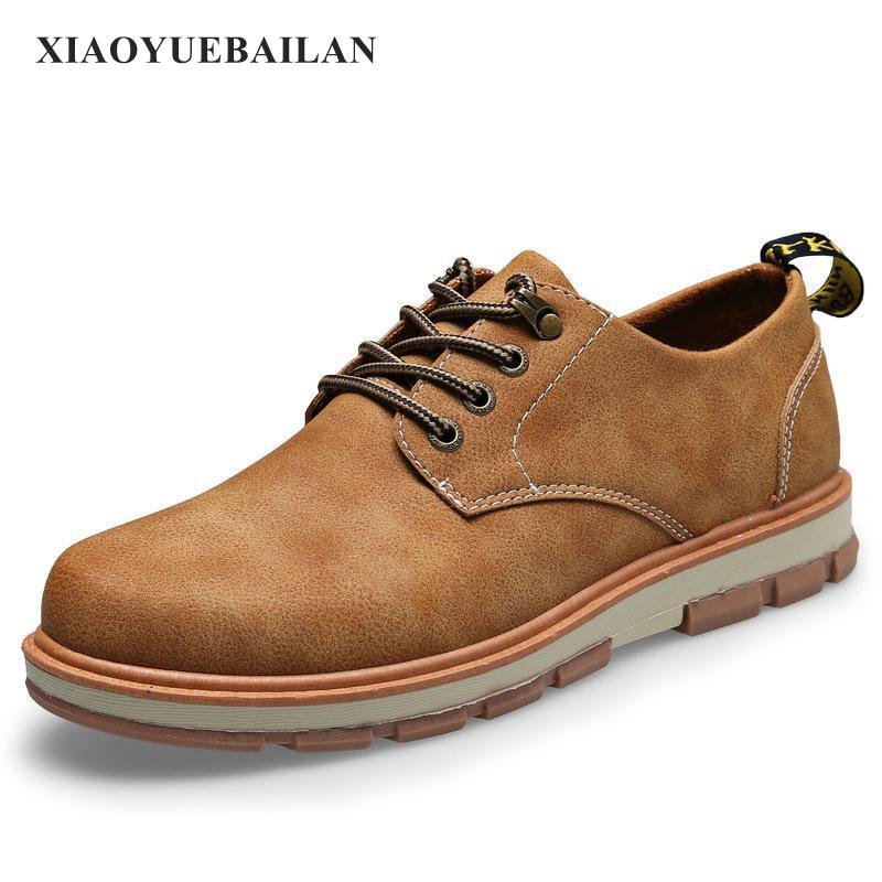 2017 New Mens Shoes Work Shoes Mens Shoes Retro Thick Soled Shoes