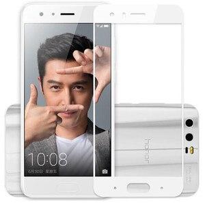 Image 2 - Tam kapak renk temperli cam için Huawei onur 9 onur 9 Lite Honor9 9 Lite ekran koruyucusu filmi siyah beyaz mavi gri