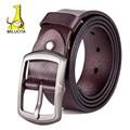 [MILUOTA] 2015 Fashion men belt brand riem genuine leather belt men high quality pin buckle luxury belt cinturones hombre LW501