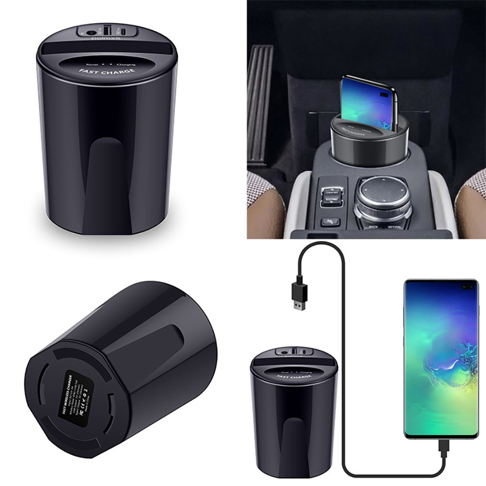 Wireless Charger Cup with USB Output for Car 9