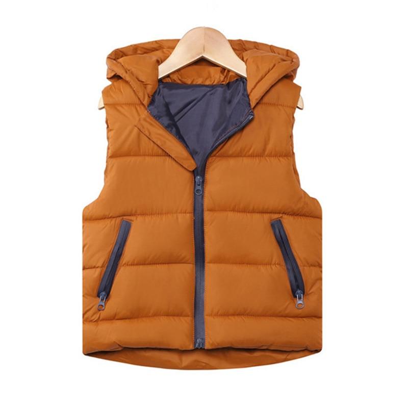 Autumn Children Warm Vest Kids Thicken Waistcoat Kids Outerwear Vest Children Clothing Teenager Boys Girls Hooded Jackets Vest 1