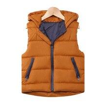 Осенний Детский Теплый жилет детский утепленный жилет Детская верхняя одежда жилет детская одежда Подростковые куртки с капюшоном для мальчиков и девочек