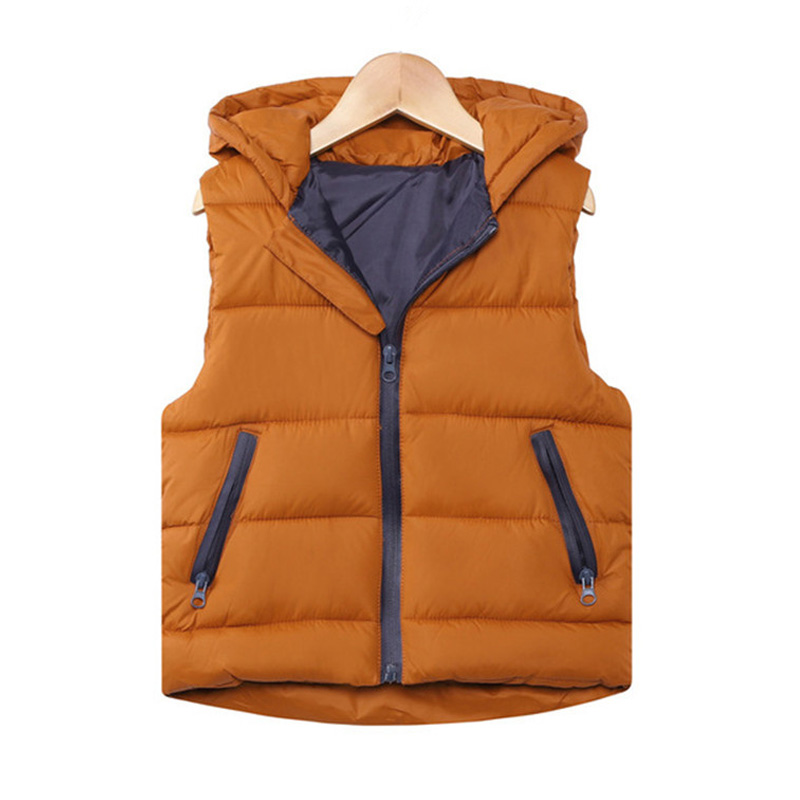 Vest Kids Clothing Jackets Hooded Girls Boys Autumn Outerwear Thicken Teenager Warm