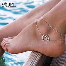 SMJEL богемные несколько слоев Морская звезда Бусы волна ножные браслеты для женщин Винтаж ноги лодыжки браслеты талисманы браслет пляжные ювелирные изделия