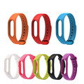 Replace Silicone Strap for Xiaomi Mi Band 2 bracelet Strap for Mi Band 2 Fitness Tracker smart wristband with 10 Colors