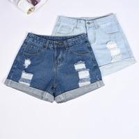 New Hot Women S Jeans High Waist Stretch Denim Shorts Slim Jeans Feminino Brand Summer Spring