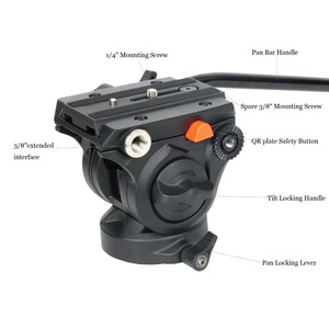 Image 4 - Profesyonel Coman alüminyum alaşımlı Video Tripod Monopod sıvı Pan kafa Unipod tutucu Canon Sony Nikon Panasonic GH5 DSLR