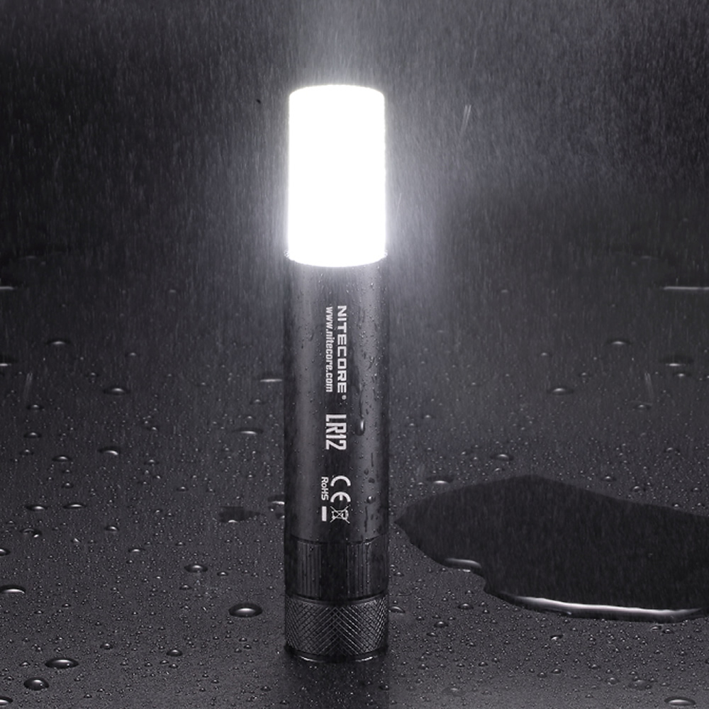 1 pc best price NITECORE LR12 18650 retractable rechargeable battery diffuser allows outdoor flashlight reading Camping free s in Flashlights Torches from Lights Lighting