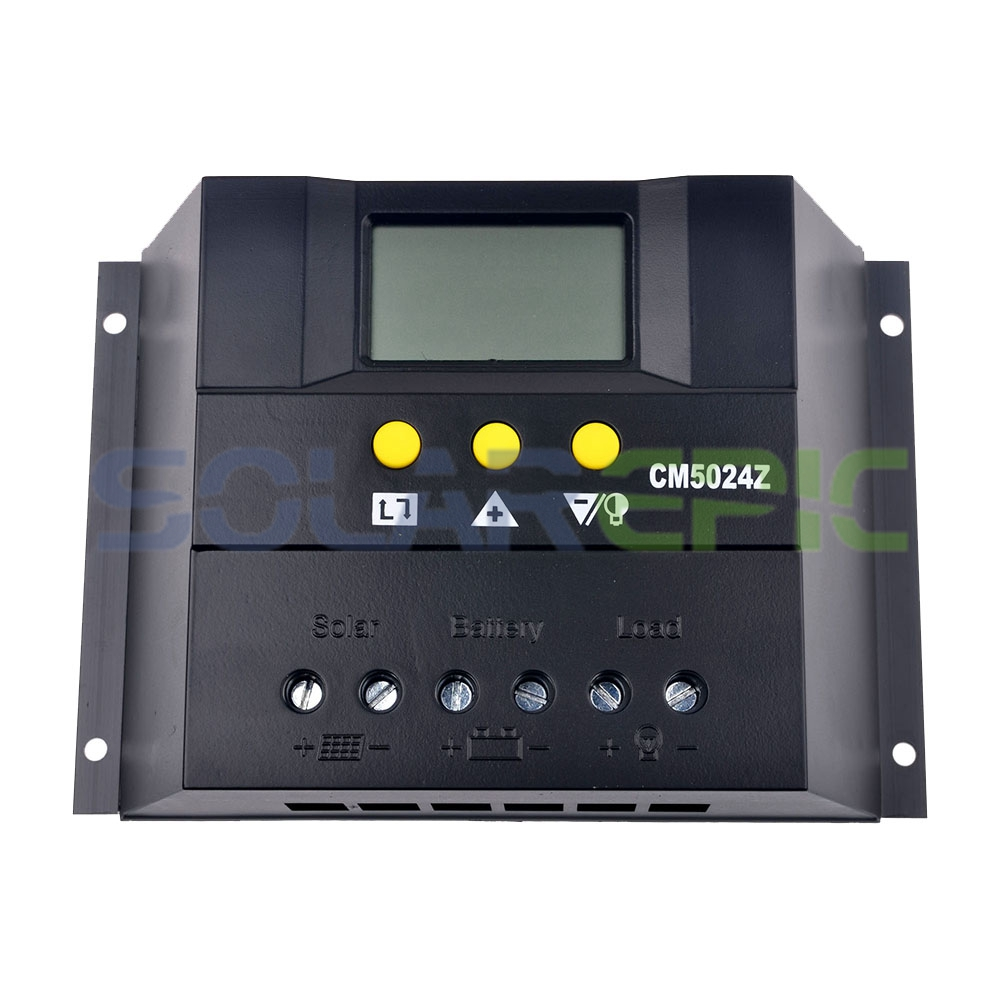 50A PWM Solar Charge Controller 12V/24VDC ATUO Solar Panel Battery Regulator With LCD Display Solar Panel Controller