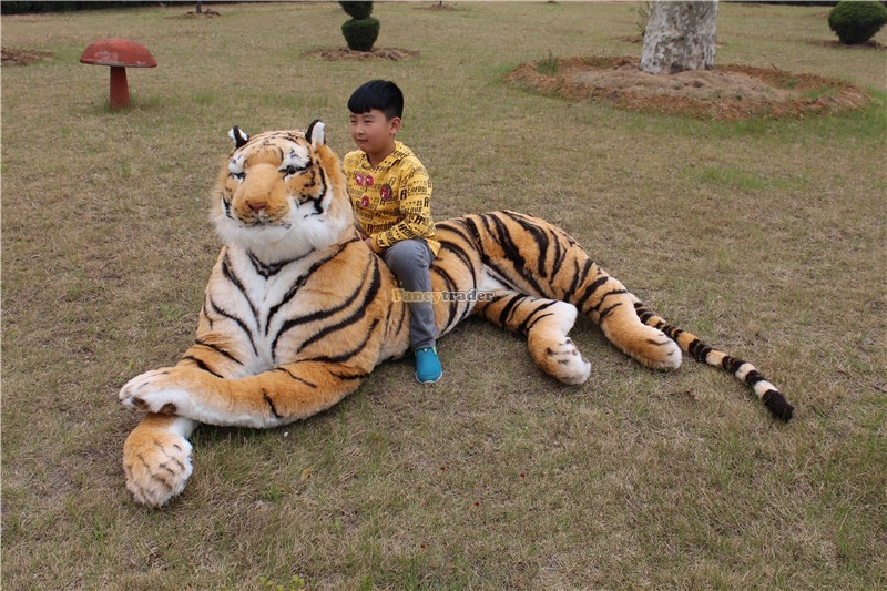 Fancytrader Just As Real Tiger! 87\'\' 220cm Rare in World! Huge Giant Plush Stuffed Emulational Tiger FT90282 (3)