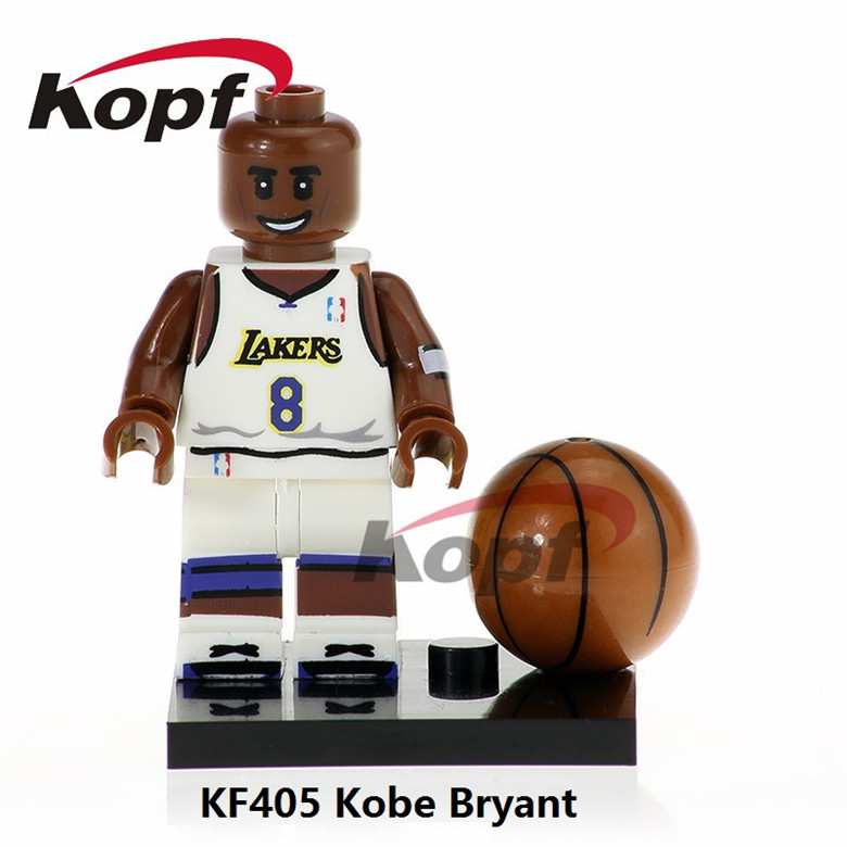 50Pcs KF405 Kobe Bryant Super Heroes NBA Professional Basketball Player Labron James Building Blocks Education Toys for children