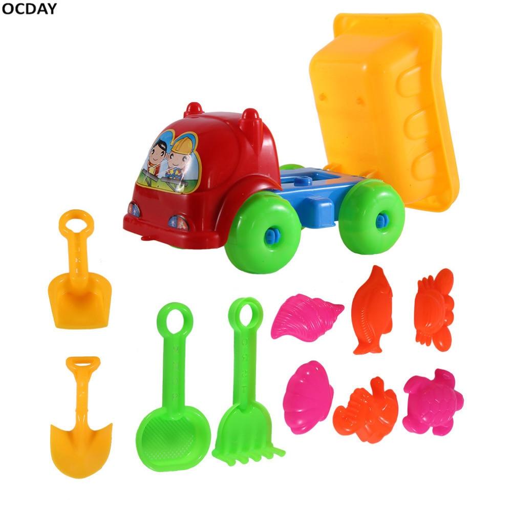 Kids Creative Beach Toys 11Pcs/set Children Playing Truck ...