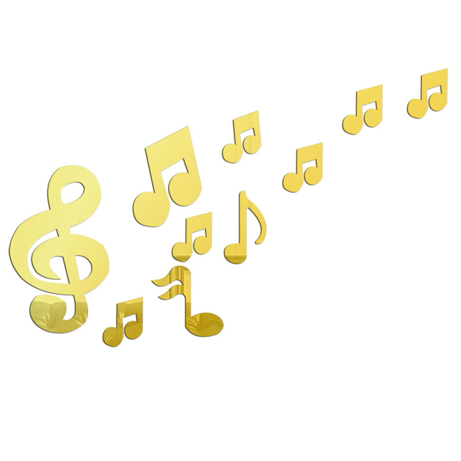 Beautiful Music Notes Wall Decor Ornament - The Wall Art Decorations ...