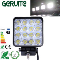 4pcs High Quality Brand New 4 2inch 12V 24V 48W Off Road Flood Square LED Work