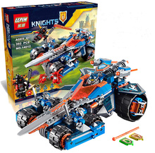 LEPIN Nexoes Knights Clay s Rumble Blade Building Block Set Ash Attacker Scurrier Claybots Minifigures legoed