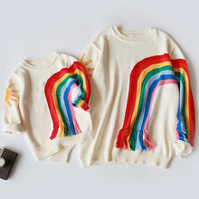 Family Clothing Sweater Mom Daughter Mom Son Pullover Knitwear Fall Autumn Keep-Warm