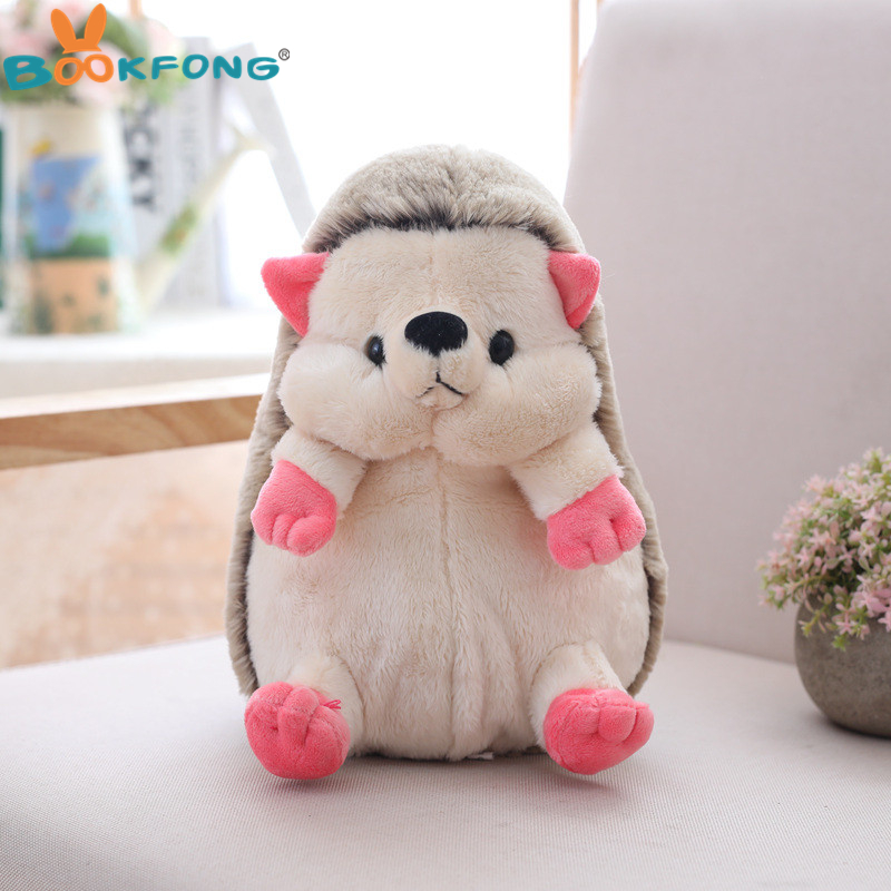 BOOKFONG 1pc 20cm Cute Cartoon Hedgehog Plush Doll Staffed Soft Lovely Animal Plush Toys Home Wedding Party Toys for Kids Gift