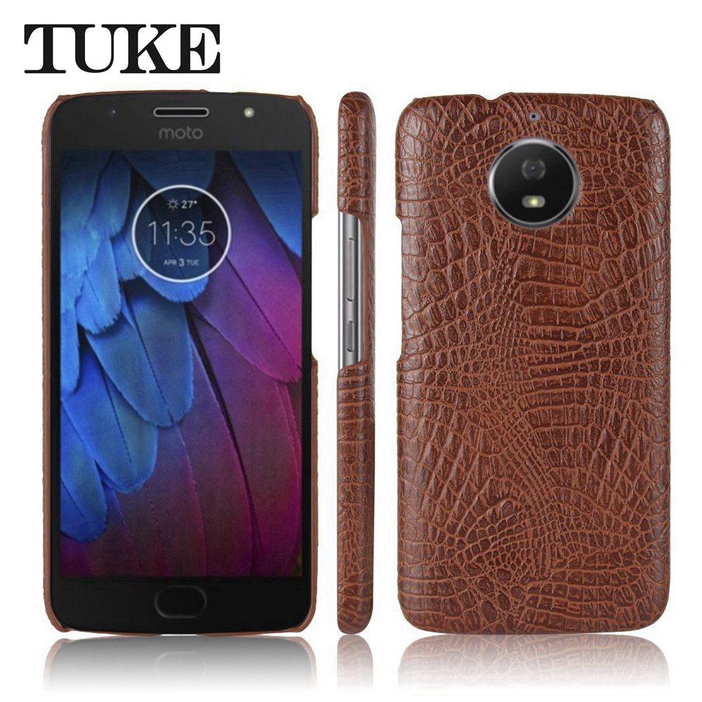 TUKE Phone Case For Moto Motorola G5S Celular Crocodile Pattern Hard PC Cover For Moto G5S XT1793 Mobile Phone Shell Etui