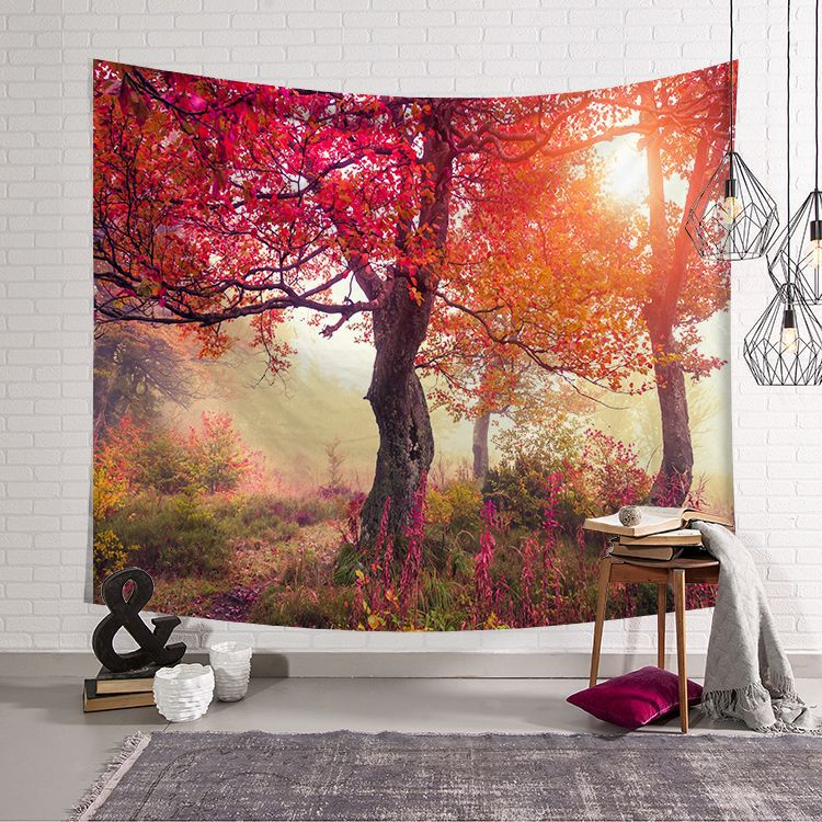 Image 5 - CAMMITEVER Natural Scenic Trees Bridge Tapestry Wall Hanging Landscape Wall Tapestries Mandala Bohemian Throw-in Tapestry from Home & Garden