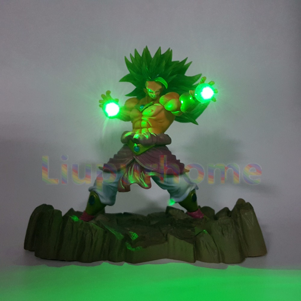 Dragon Ball Z Broly DIY Led Lighting Lamp Display Anime Dragon Ball Z DBZ Super Saiyan Broly Led Light For Christmas Gift электроодеяло gess матрас с подогревом blanket 145 см х 185 см