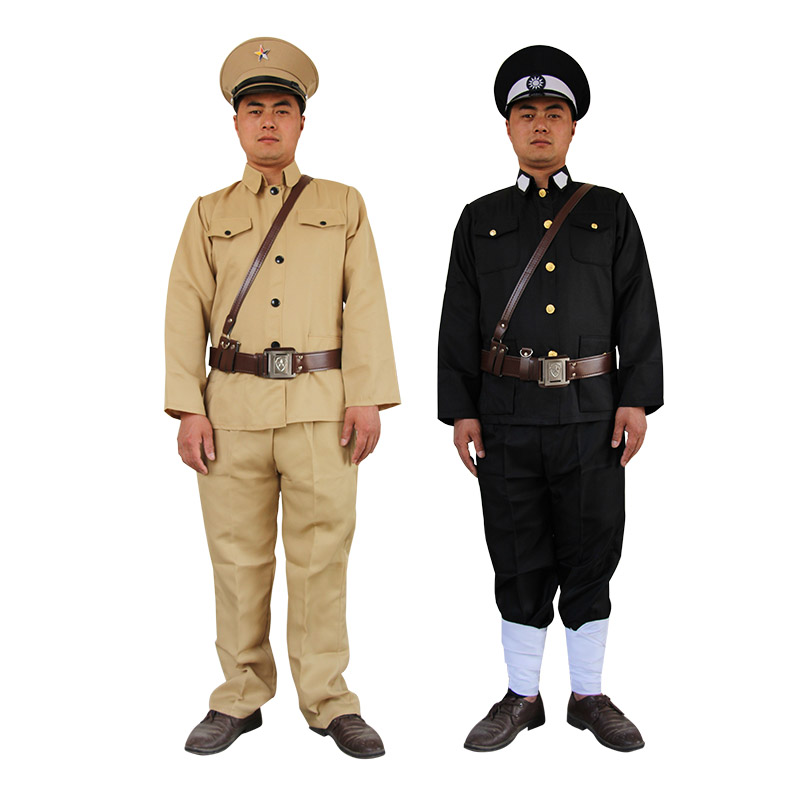 Military uniform traitors Republic of China police patrol clothing Kuomintang men officers Chinese ancient soldiers uniform