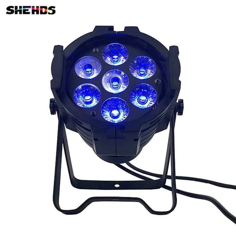 2pcs/lot LED Par Can 7x12W Aluminum alloy LED Par RGBW 4in1 DMX512 Wash dj stage light disco party light Dj Lighting