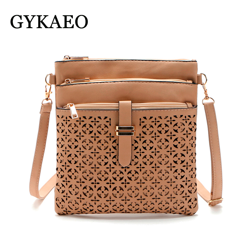 2018 Fashion Small Bag Women Messenger Bags Soft PU Leather Hollow Out Crossbody Bag For Women