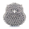 Delicate Handmade Crystal Clutch Owl Shaped Evening Bags